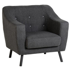 Ashley - Arm Chair - Dark Grey