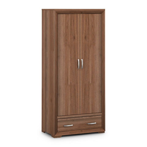 Picture of Buckingham - 2 Door Combination Wardrobe - Walnut