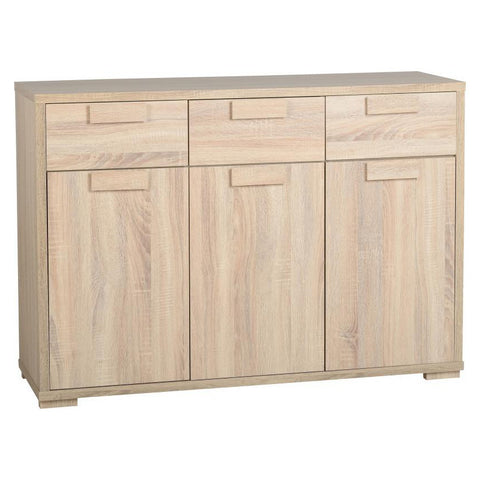 Picture of Cambourne - 3 Door 3 Drawer Sideboard - Sonoma Oak