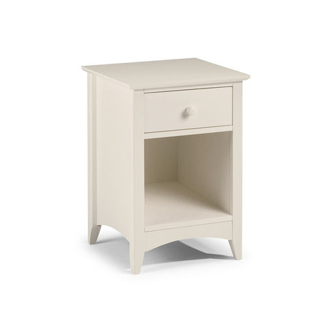 Picture of Cameo - 1 Drawer Bedside Cabinet - Stone White
