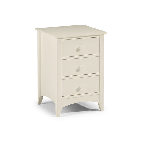 Picture of Cameo - 3 Drawer Bedside Cabinet - Stone White