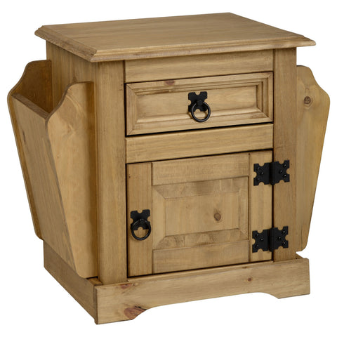 Picture of Corona - 1 Drawer Magazine Table - Pine