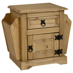 Corona - 1 Drawer Magazine Table - Pine