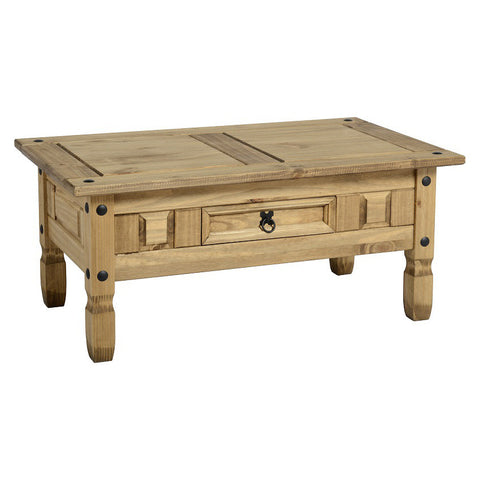 Picture of Corona - 1 Drawer Coffee Table - Pine