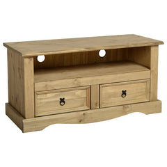 Corona - 2 Drawer TV Unit- Pine
