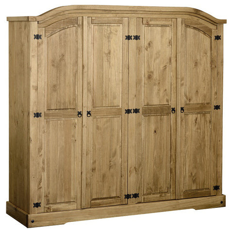 Picture of Corona - 4 Door Wardrobe - Pine
