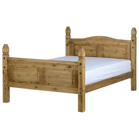 "Picture of Corona - 4'6"" Double High Footend Bed - Pine"