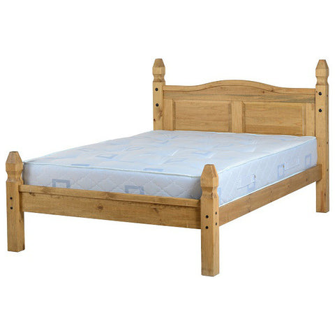 "Picture of Corona - 4'6"" Double Low Footend Bed - Pine"
