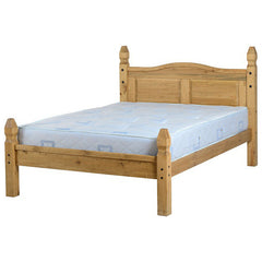 "Corona - 4'6"" Double Low Footend Bed - Pine"