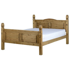 Corona - 5' King Size High Footend Bed - Pine