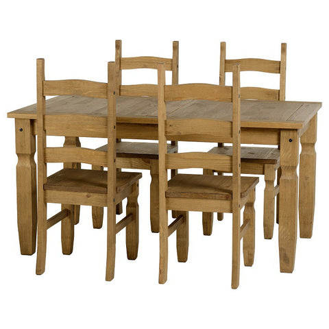 Picture of Corona - 5' Dining Set - Pine