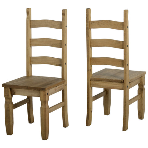 Picture of Corona - Pair of Dining Chairs - Pine