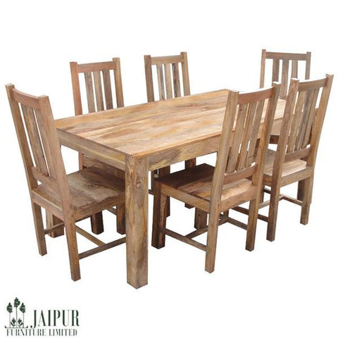 Picture of Dakota DLDTL - Dining Table and 6 Chairs - Light Mango