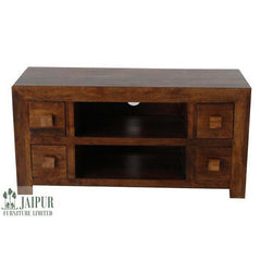 Dakota DPTV4D - 4 Drawer TV Unit - Dark Mango