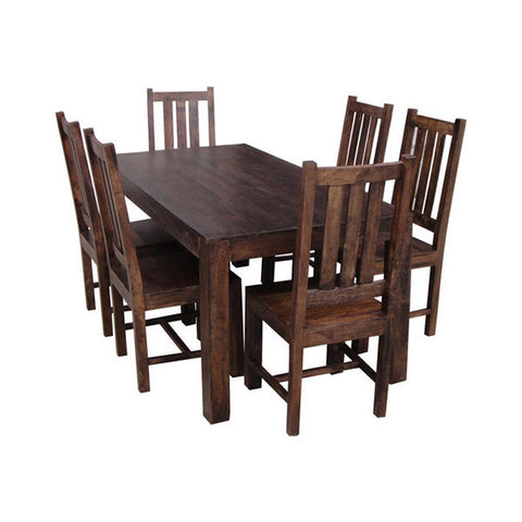 Picture of Dakota DLDT - Dining Table and 6 Chairs - Dark Mango