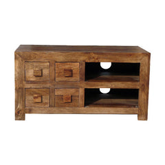Dakota DTV4D - 4 Drawer TV Unit - Dark Mango
