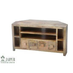 Dakota DCTVL - 4 Drawer Corner TV Unit - Light Mango