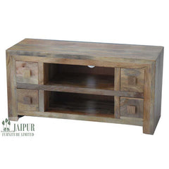 Dakota DPTV4DL - 4 Drawer TV Unit - Light Mango
