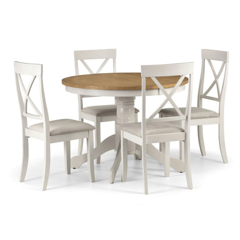 Picture of Davenport - Round Dining Table - White and Oak