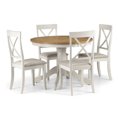Davenport - Round Dining Table - White and Oak
