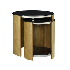Jual JF305 - Nest of Tables with Glass Tops - Oak