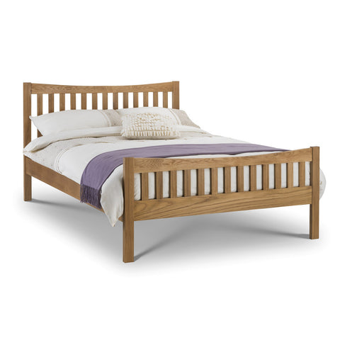 Picture of Bergamo - High Foot End Double Bed - Oak