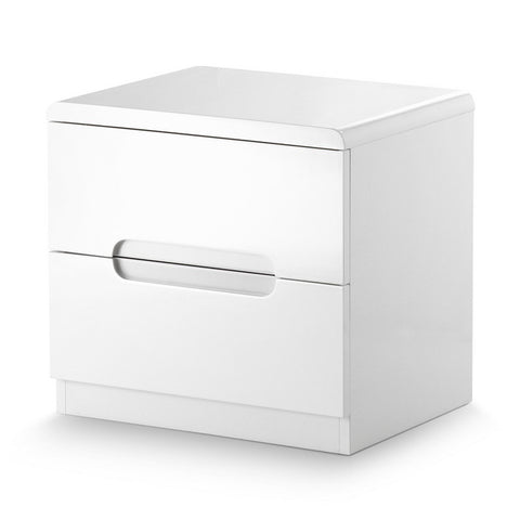 Picture of Manhattan - 2 Drawer Bedside - White