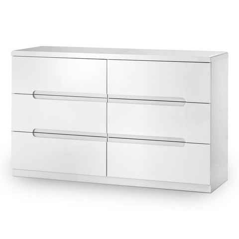Picture of Manhattan - 6 Drawer Wide Chest - White