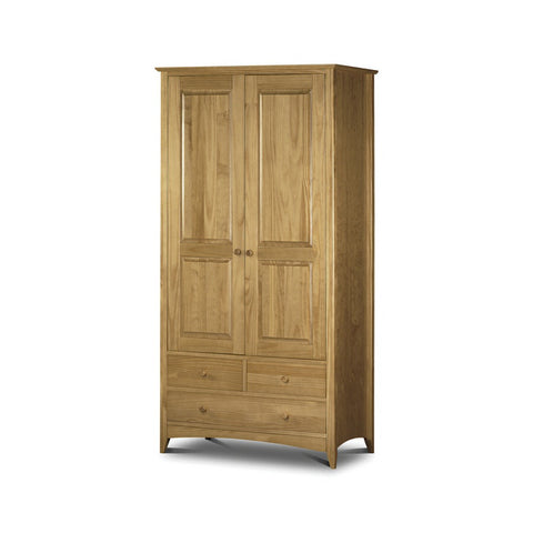 Picture of Kendal - 2 Door 3 Drawer Combination Wardrobe - Pine