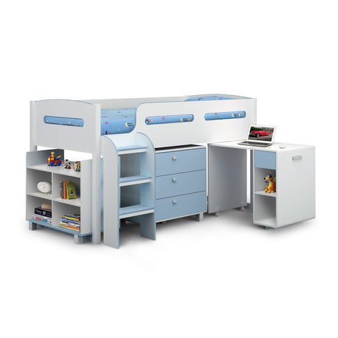 Picture of Kimbo - Cabin Bed - White and Blue