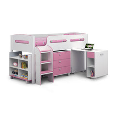 Kimbo - Cabin Bed - White and Pink
