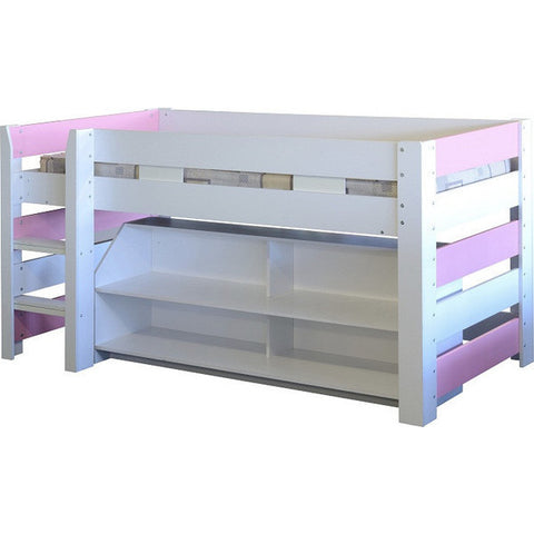 Picture of Lollipop - Midsleeper with Storage - Pink and White