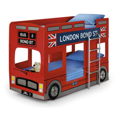 London - Bus Bunk Bed - Red