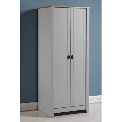 Picture of Ludlow - 2 Door Wardrobe - Painted Grey