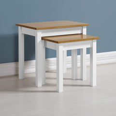 Ludlow - Nest of Tables - Painted White