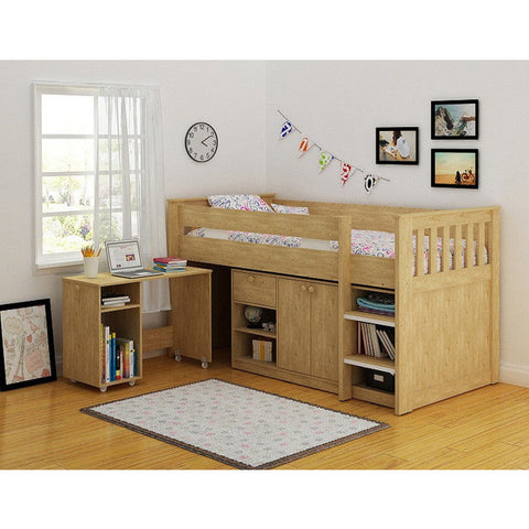 Picture of Merlin - Study Bunk - Oak