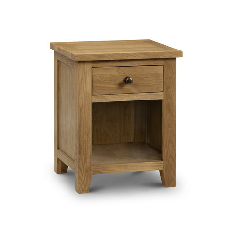 Picture of Marlborough - 1 Drawer Bedside Cabinet - Oak