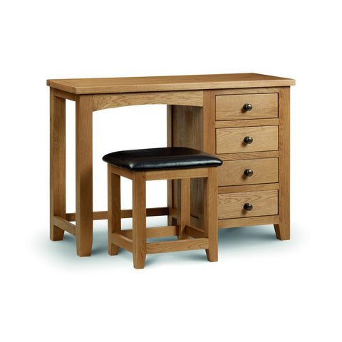 Picture of Marlborough - Single Pedestal Dressing Table - Oak