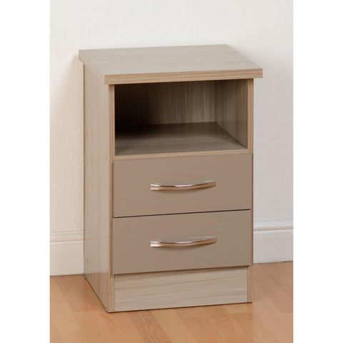 Picture of Nevada - 2 Drawer Bedside - Oyster Gloss
