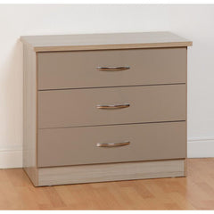 Nevada - 3 Drawer Chest - Oyster Gloss