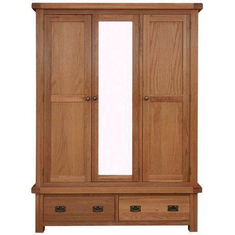 Picture of Oakham - 3 Door 2 Drawer Wardrobe - Oak