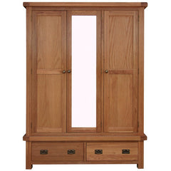 Oakham - 3 Door 2 Drawer Wardrobe - Oak
