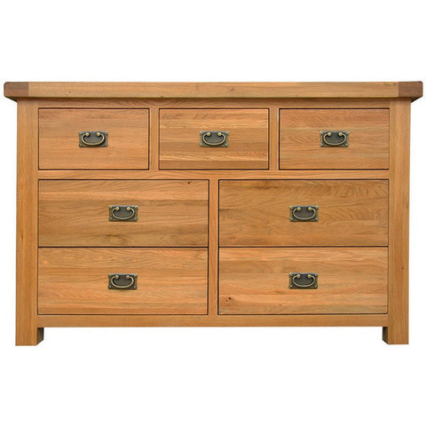Picture of Oakham - 3 over 4 Chest of Drawers - Oak