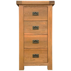 Oakham - 4 Drawer Narrow Chest - Oak
