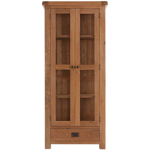 Picture of Oakham - Display Cabinet with Glass Doors - Oak