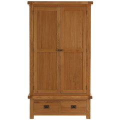 Oakham - 2 Door 2 Drawer Wardrobe - Oak