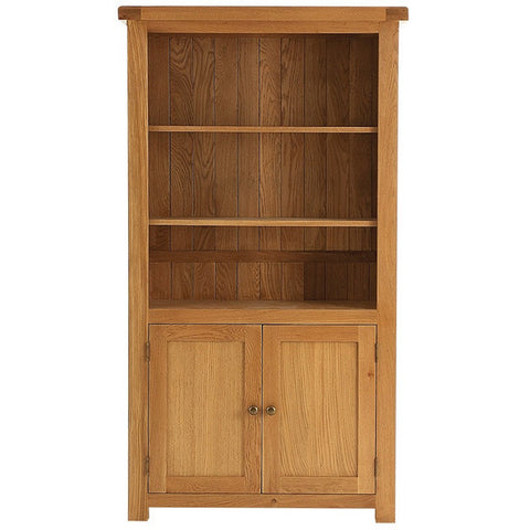 Picture of Oakham - Large Bookcase with Cupboard - Oak