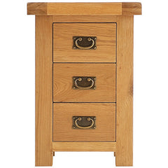 Oakham - Large 3 Drawer Bedside - Oak
