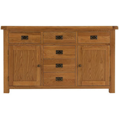 Oakham - 2 Door 6 Drawer Sideboard - Oak