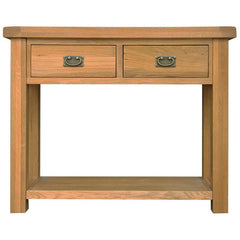 Oakham - Medium Console Table with Drawers - Oak